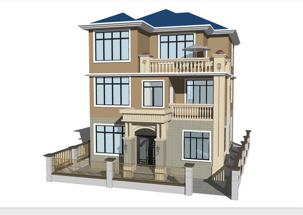 大气豪装三层轻钢别墅50万造价隔壁邻居羡慕死了。