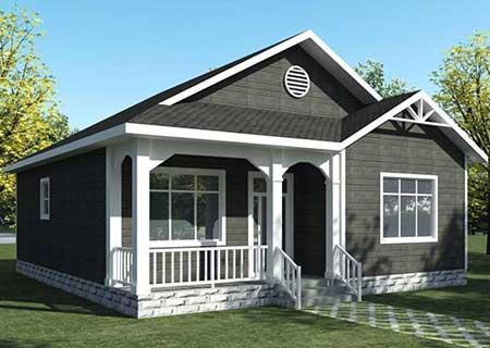 一层轻钢房屋,带玄关和走廊