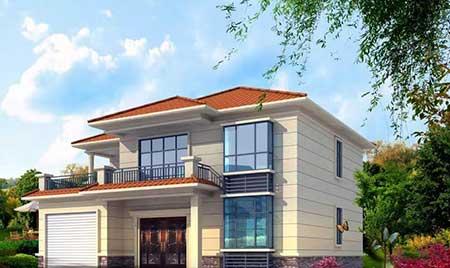 造价38万欧式风格二层轻钢房屋结构大别墅