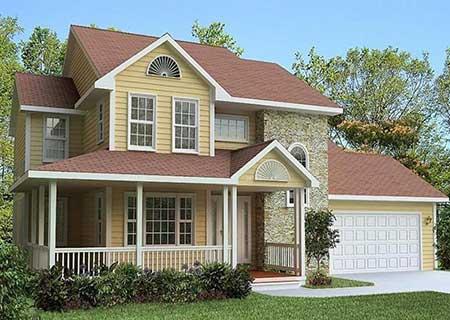 400平大面积二层轻钢别墅户型,时尚又实用