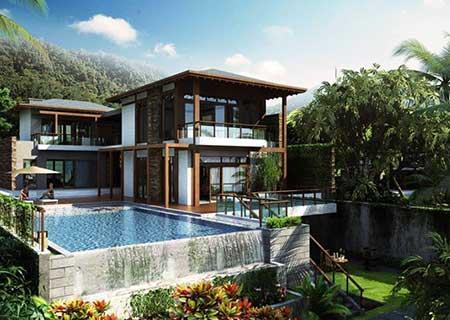 适合风景区漂亮二层钢结构别墅