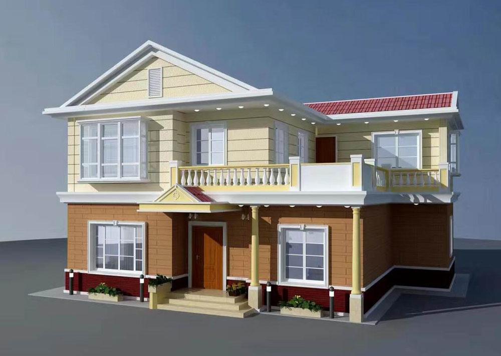 现代风格两层轻钢房屋新农村首先