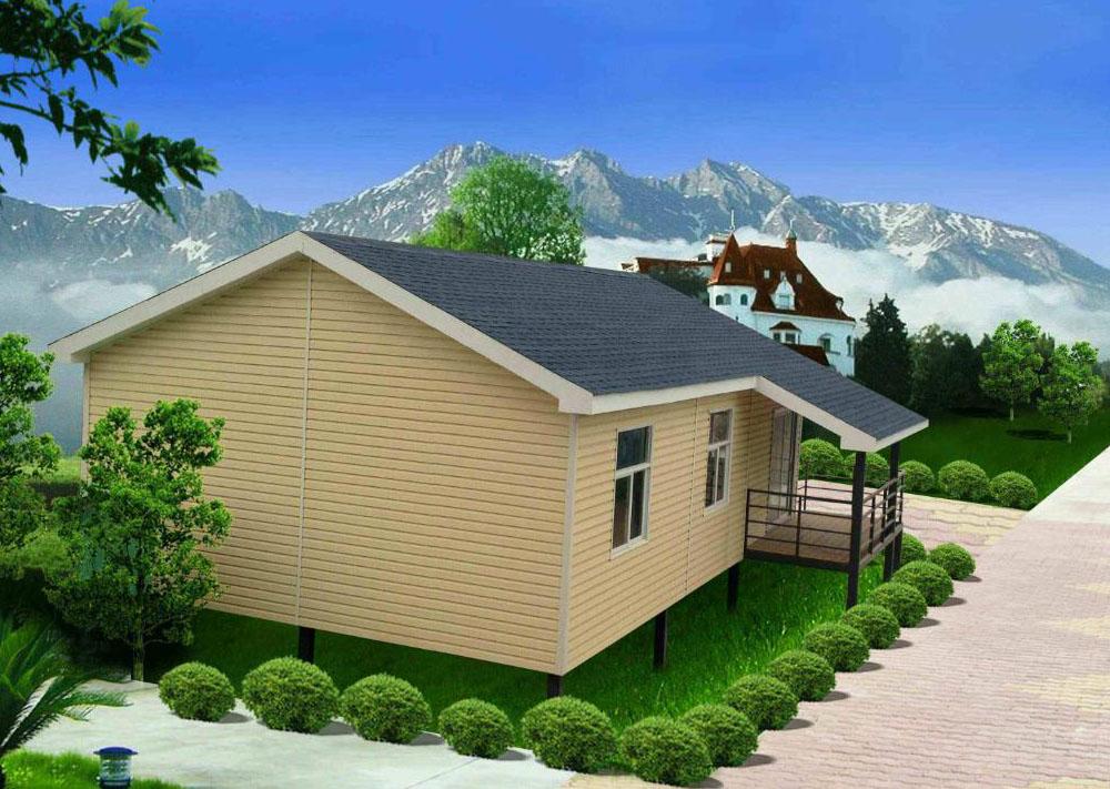 农村100平米一层轻钢集成别墅,带储物间