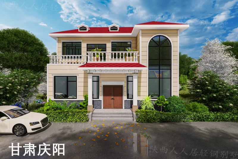 陕西人人居轻钢别墅是怎么建成的?