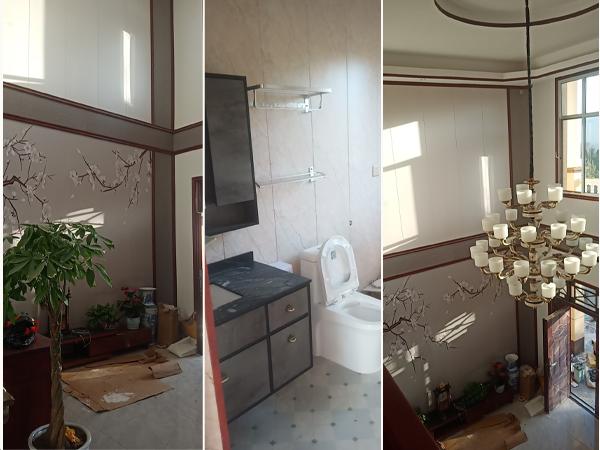 甘肃陇南西河农村豪华二层轻钢别墅完工了
